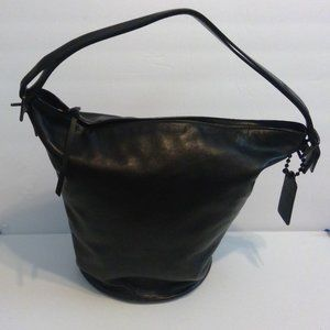 Coach XL black Leather Bucket Bag